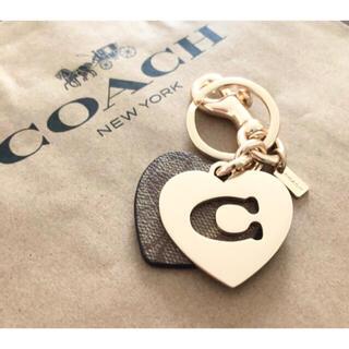 COACH - 【COACH☆完売品】新品!大人気!チャーム!キーホルダー!シグネチャー!ハート
