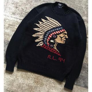ポロラルフローレン(POLO RALPH LAUREN)の別格の1枚 圧巻のインディアンヘッド 94年製 ラルフローレン ニット セーター(ニット/セーター)