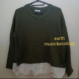 earth music&ecology ニット トップス レディース M L