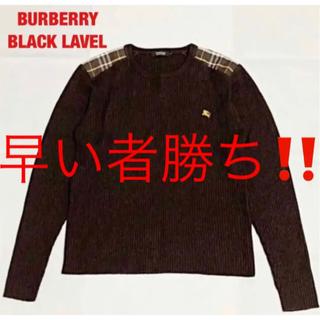 BURBERRY BLACK LABEL - 【人気】BURBERRY BLACK LABEL 厚手ニット ノバチェック