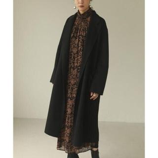 トゥデイフル(TODAYFUL)のTODAYFUL Wool Over Coat ウールオーバーコート黒36 S (ロングコート)