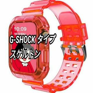 Apple Watch クリア 透明 スケルトン ベルト 38/40mm a(その他)