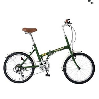 【新品・未使用品】シンプルスタイル 20型折りたたみ自転車6段変速ライト付