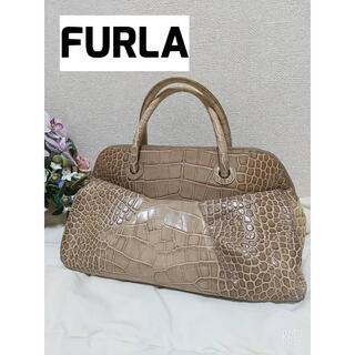 Furla - FURLA フルラ クロコ A4 ベージュ