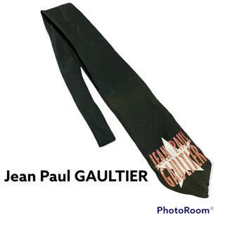 Jean-Paul GAULTIER - Jean Paul GAULTIER ネクタイ ロゴ ブラック
