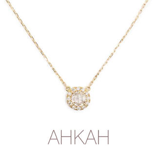 AHKAH - AHKAH ヴィヴィアンローズ ネックレス K18イエローゴールド ダイヤ