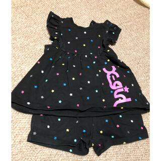 エックスガールステージス(X-girl Stages)のエックスガールステージス セットアップ 80cm(Tシャツ/カットソー)