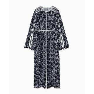 mame - Osmanthus Motif Jacquard Knitted Dress
