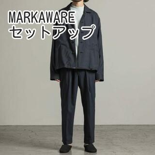 マーカウェア(MARKAWEAR)のMARKAWARE セットアップ シャツブルゾン フラットフロント marka(スラックス)