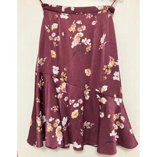 ロペピクニック(Rope' Picnic)のロペピクニック 花柄スカート(ひざ丈スカート)