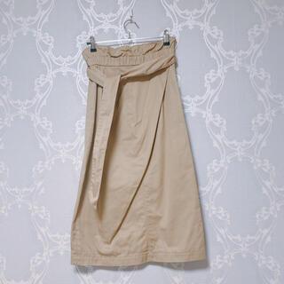 ミラオーウェン(Mila Owen)のMilaOwen ミラオーウェン  ペーパーバックストレートチノスカート (ひざ丈スカート)