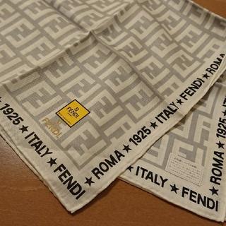 フェンディ(FENDI)の新品 フェンディ スカーフ シルク混(ハンカチ)
