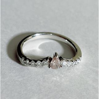 Pt900 ダイヤモンド0.29,0.188Carat リング