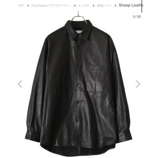 COMOLI - graphpaper sheep leather oversized shirt