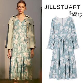JILLSTUART - 【美品】ジルスチュアート フラワージャガードワンピース セルフォード アナイ
