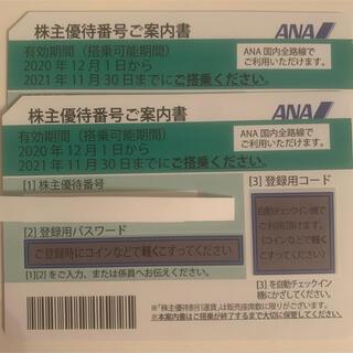 ANA 株主優待券 2枚