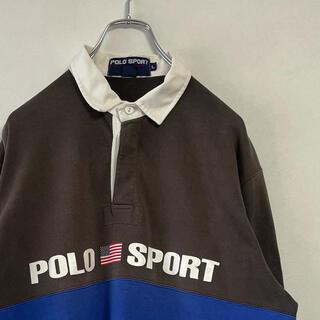 Ralph Lauren - 古着 90s Ralph Lauren POLO SPORT 長袖ラガーシャツ