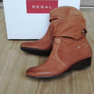 リーガル(REGAL)の【24cm】REGAL リーガル ☆ ショートブーツ  革 ブーツ(ブーツ)