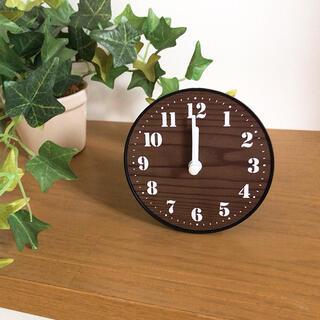 掛け時計 置き時計 北欧 北欧風 インテリア おしゃれ シンプル 無印 ウッド調