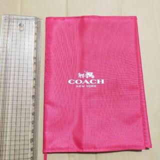 コーチ(COACH)のCOACH コーチ ブックカバー 赤 背面にポケット付き 雑誌 付録(ブックカバー)