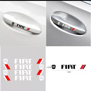 FIAT ドアハンドルステッカー4p ブラックorシルバー