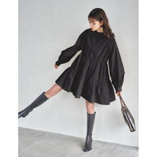 GRL - 新品★グレイル★前後2Wayティアードシャツワンピース★黒