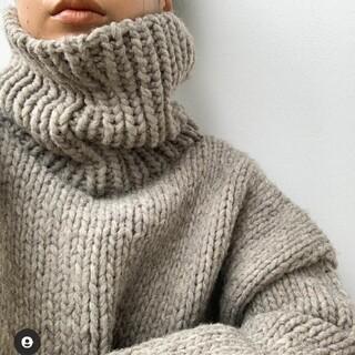 シールームリン(SeaRoomlynn)のsearoomlynn Hand made Wool タートルニット(ニット/セーター)