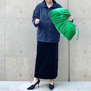 ベロア ビッグ 2way クラッチ バッグ【green】