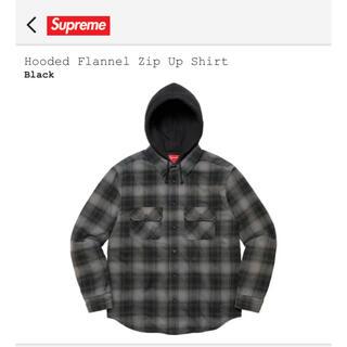 Supreme - Hooded Flannel Zip Up Shirt Black Medium