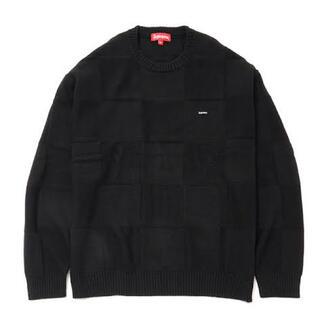 Supreme - Tonal Checkerboard Small Box Sweater