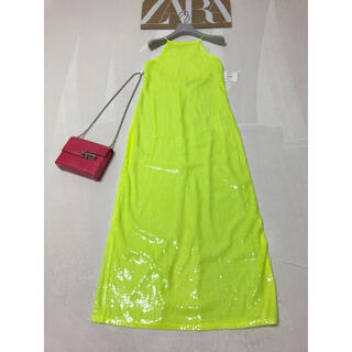 ZARA - 新品 ZARA 総スパンコール ロングドレス タグ付
