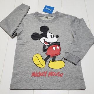 ミッキーマウス(ミッキーマウス)の新品タグ付きミッキーマウス薄手トレーナー110センチ➀グレーディズニー(Tシャツ/カットソー)