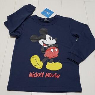 ミッキーマウス(ミッキーマウス)の新品タグ付きミッキーマウス薄手トレーナー110センチ②紺ネイビーディズニー(Tシャツ/カットソー)