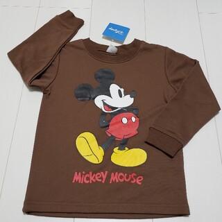 ミッキーマウス(ミッキーマウス)の新品タグ付きミッキーマウス薄手トレーナー110センチ③茶色ディズニー(Tシャツ/カットソー)