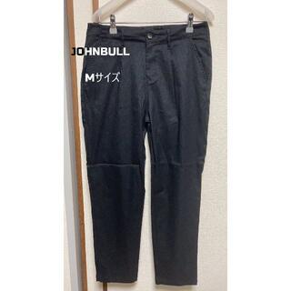 ジョンブル(JOHNBULL)のJOHNBULL ジョンブル リネン混 タックパンツ Mサイズ ブラック(カジュアルパンツ)