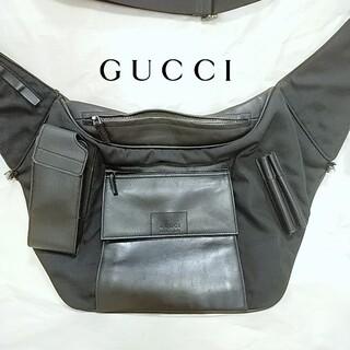 Gucci - GUCCI グッチ ボディバッグ メッセンジャーバッグ ナイロン 本革 バッグ