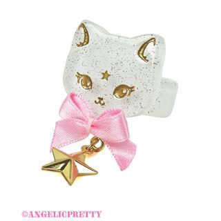 アンジェリックプリティー(Angelic Pretty)のangelic pretty  Milk Cat リング シロxピンク(リング(指輪))