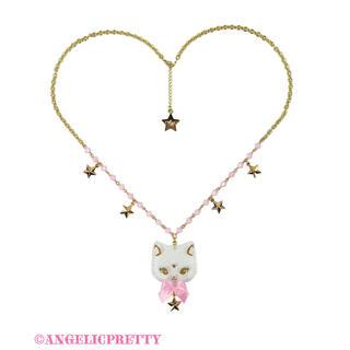 Angelic Pretty - angelic pretty   Milk Cat  ネックレス シロxピンク