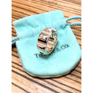 Tiffany & Co. - 廃盤品♡ティファニー グルーブ ワイド リング 925 10号