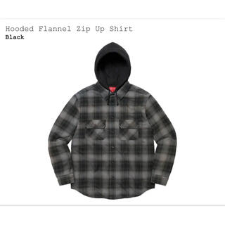 Supreme - Supreme Hooded Flannel Zip Up Shirt 黒L