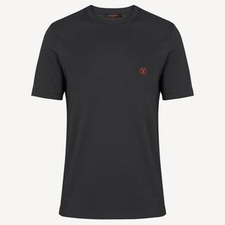 LOUIS VUITTON - 美品 VUITTON シンプルロゴ入りTシャツ 黒 S