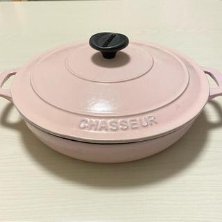 ルクルーゼ(LE CREUSET)のCHASSEUR シャスール ラウンドキャセロール(鍋/フライパン)