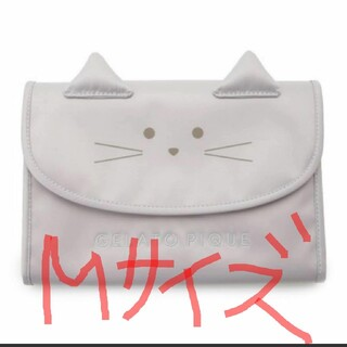 gelato pique - ジェラートピケ☆CAT☆母子手帳ケースMサイズ☆ライトグレー新品未使用