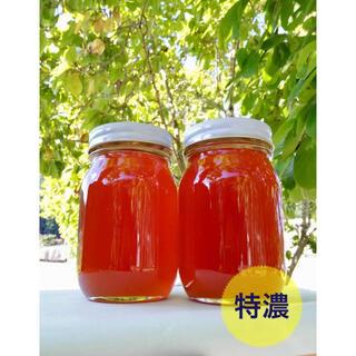 ☆特濃☆日本蜜蜂2年物秋採れはちみつ(600gを2本) 非加熱 無添加 国産蜂蜜