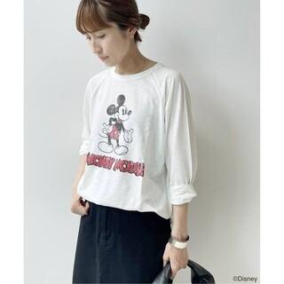 フレームワーク(FRAMeWORK)の特価新品  FRAMeWORK  MICKEY ヴィンテージラグランT  白(Tシャツ(長袖/七分))