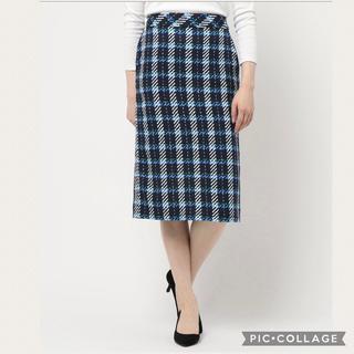 ロペピクニック(Rope' Picnic)のROPE' PICNICタイトスカート ブルー 40サイズ Lサイズ(ひざ丈スカート)