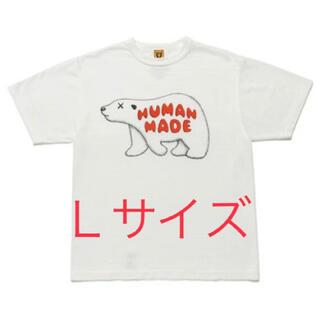 A BATHING APE - 新品 HUMAN MADE KAWS コラボ Tシャツ Lサイズ 白