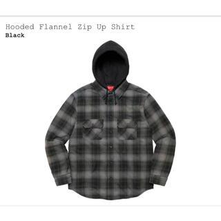 Supreme - Supreme Hooded Flannel Zip Up Shirt Sサイズ