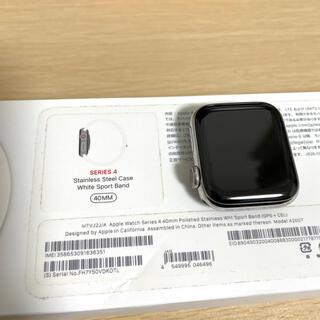 アップルウォッチ(Apple Watch)のApple Watch Series 4(Cellular)40mm ステンレス(腕時計(デジタル))