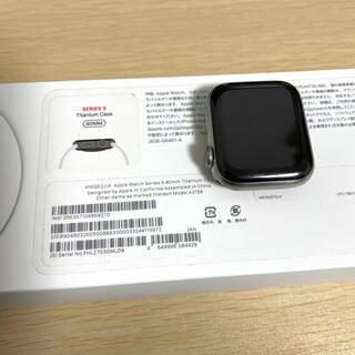 アップルウォッチ(Apple Watch)のApple Watch series5 40mm Titanium チタニウム(腕時計(デジタル))